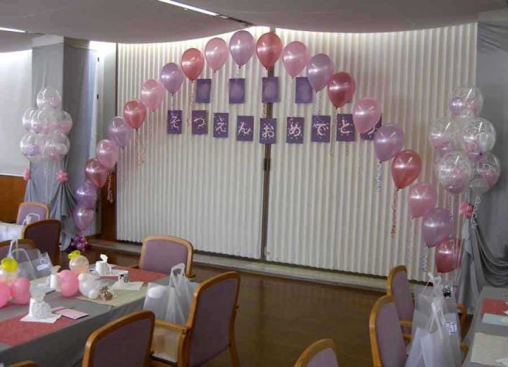幼稚園お別れ会 ホテルの装飾